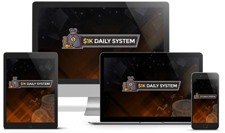 Glynn Kosky $1K Daily System review  and bonus $1795 Launch Discount Price $17